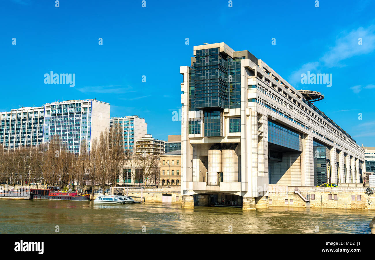 The French Ministry for the Economy and Finance in the Bercy district of Paris - Stock Image