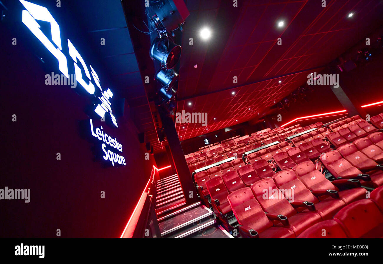 The refurbished Cineworld Leicester Square cinema in London. - Stock Image