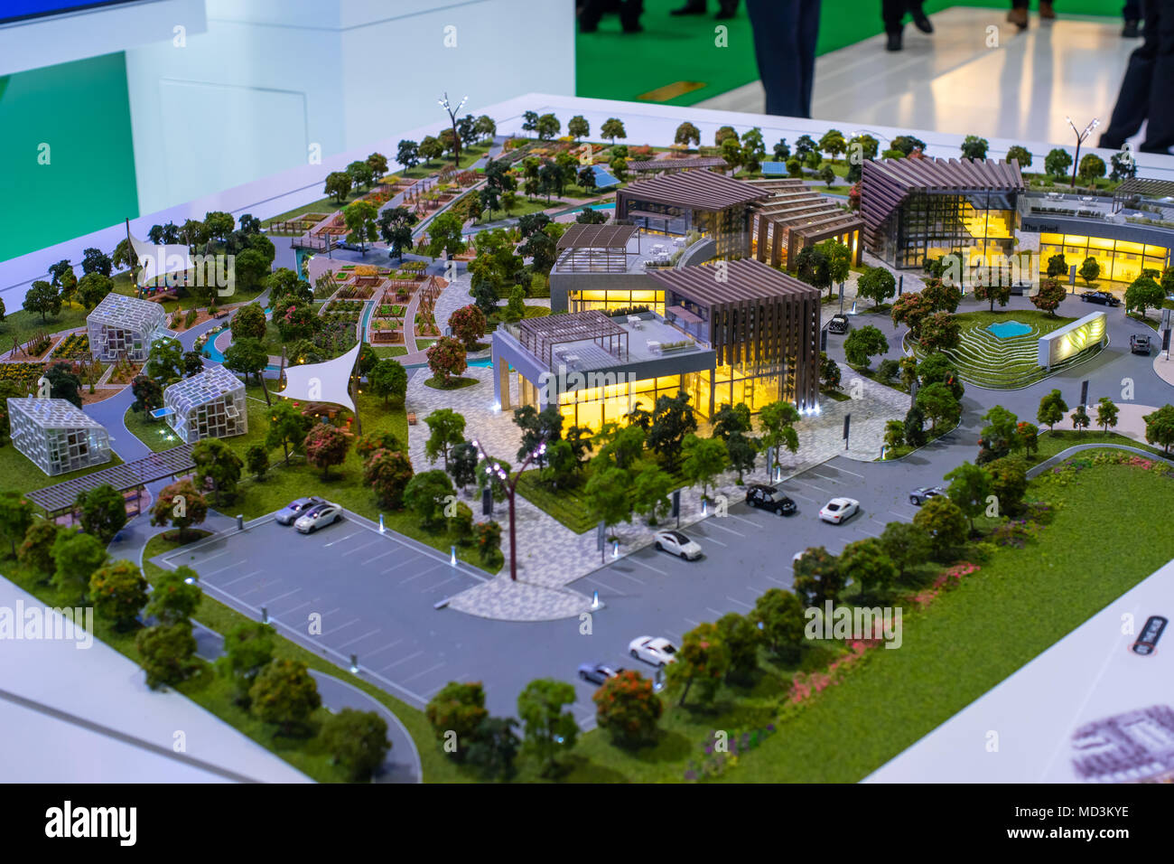 ADNEC, Abu Dhabi, UAE - 18th April, 2018: 3D Models of
