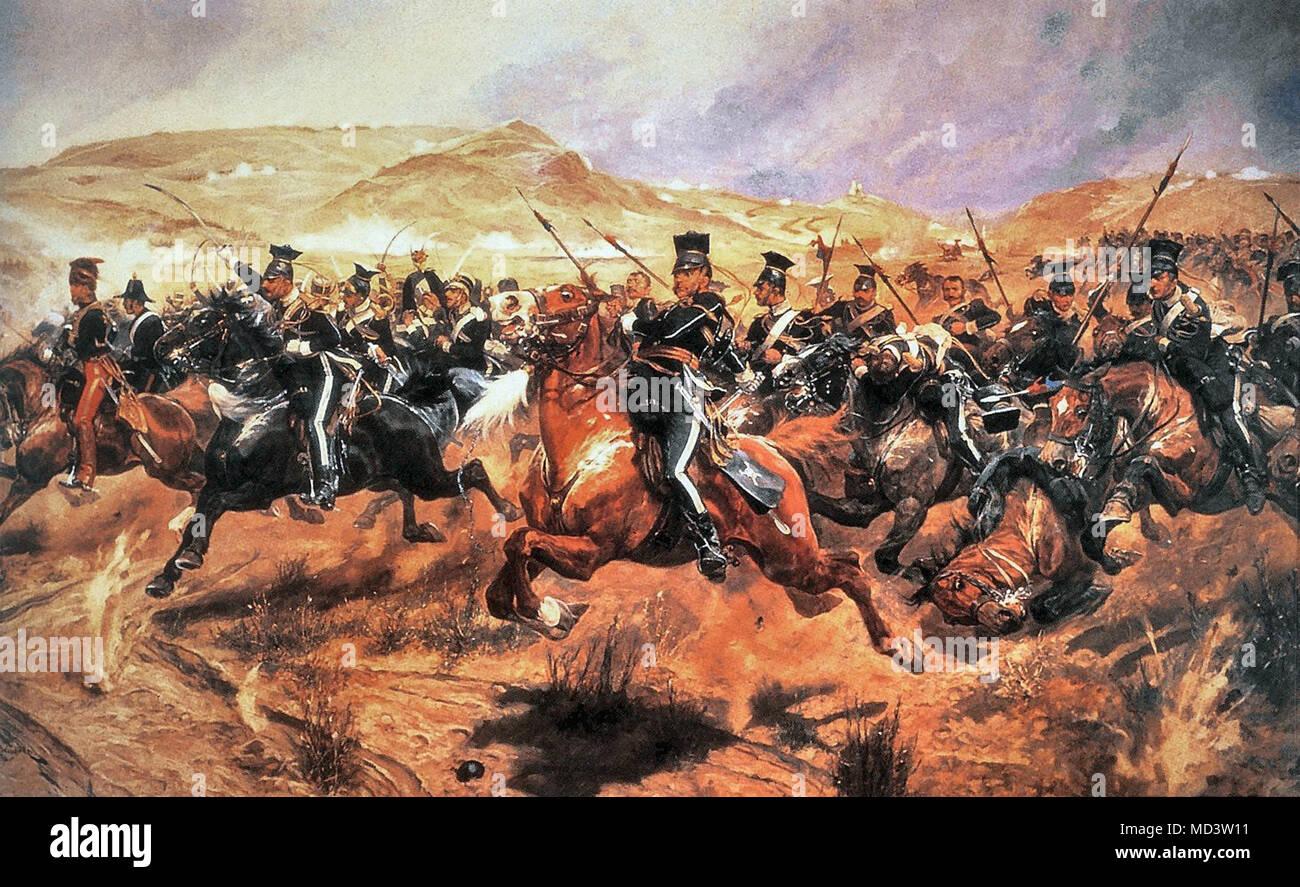 Woodville Richard Caton - Charge of the Light Brigade Balaclava 25 October 1854 - Stock Image