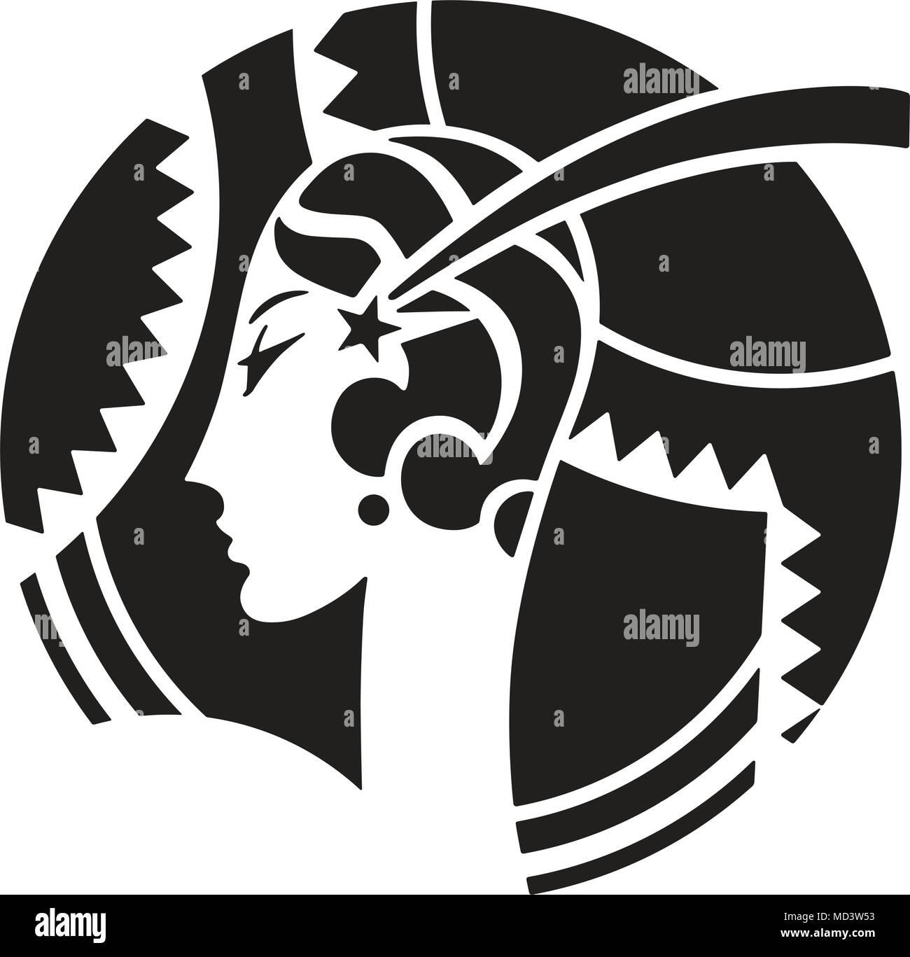 Art Deco Motif - Retro Clipart Illustration Stock Vector Art ...