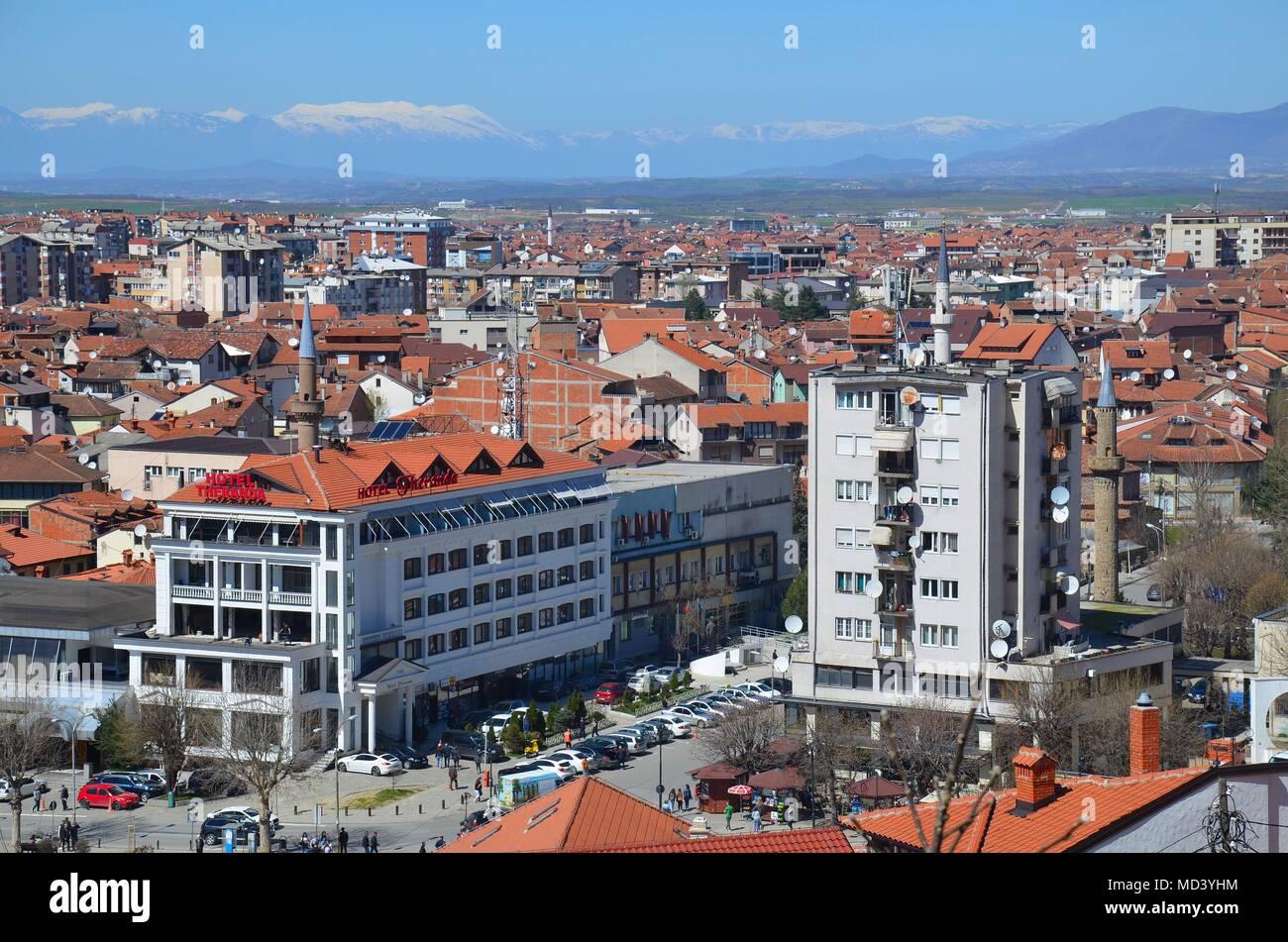 Prizren, an old pittoresque town in Kosovo Stock Photo