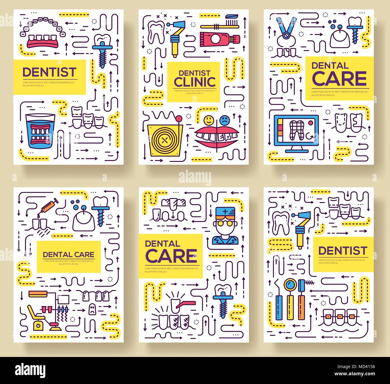 Thin line dentist clinic baking brochure cards set dent instruments thin line dentist clinic baking brochure cards set dent instruments template of flyear magazines poster book cover banners outline medical invitation stopboris Choice Image