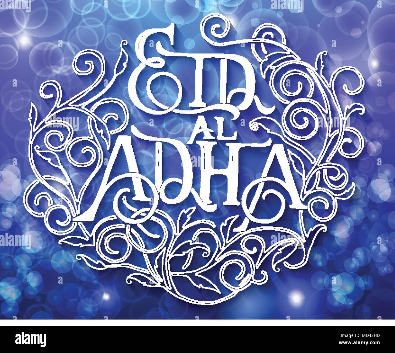 Islamic Calligraphy With Abstract Decor Of Text Eid Ul Adha On