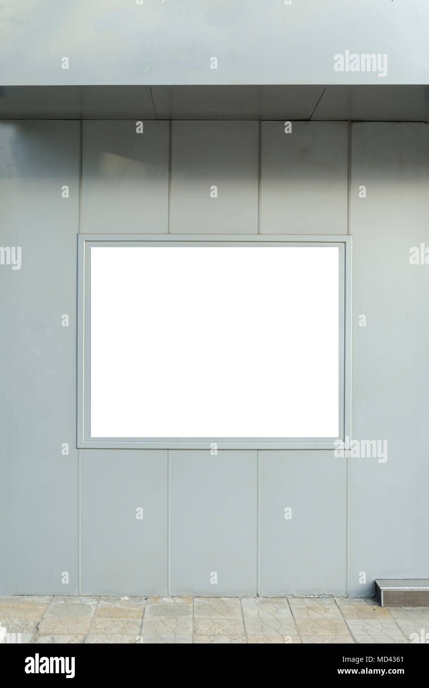 blank frame for you advertising in a outside wall Stock Photo ...
