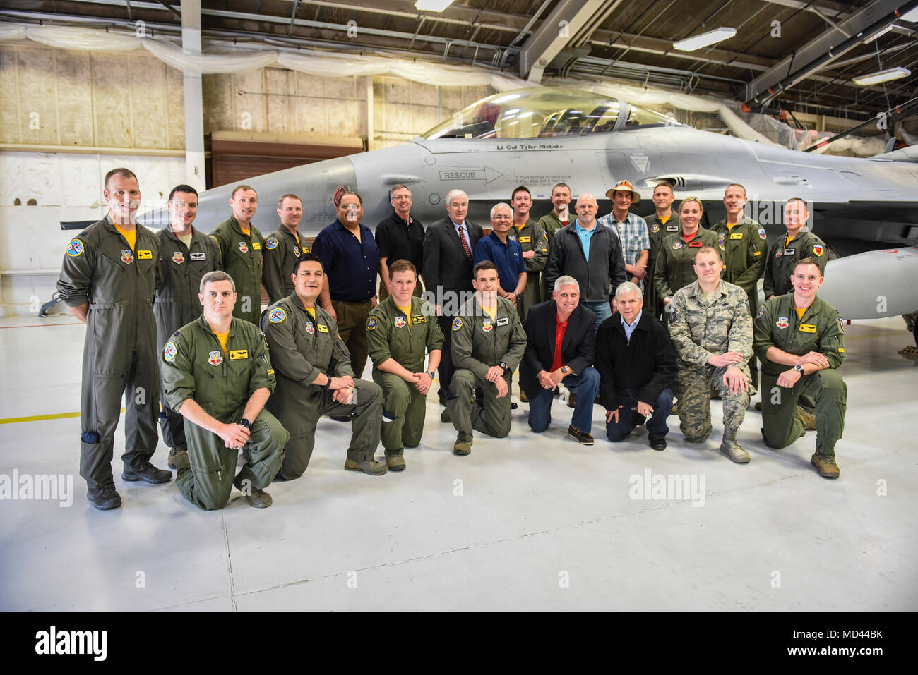 Members Assigned To The 24th Tactical Air Support Squadron Pose For First Group Photo At Nellis Force Base Nevada Mar 2 2018