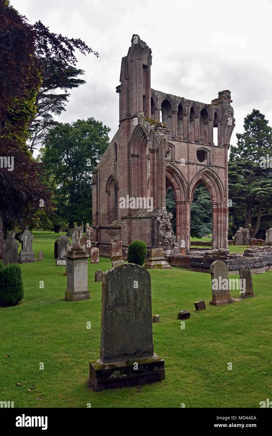 Dryburgh Abbey. Dryburgh, St.Boswells, Roxburghshire, Scottish Borders, Scotland, United Kingdom, Europe. - Stock Image