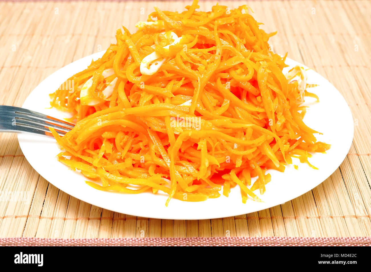 Salad Recipes with Squid and Korean Carrots 49