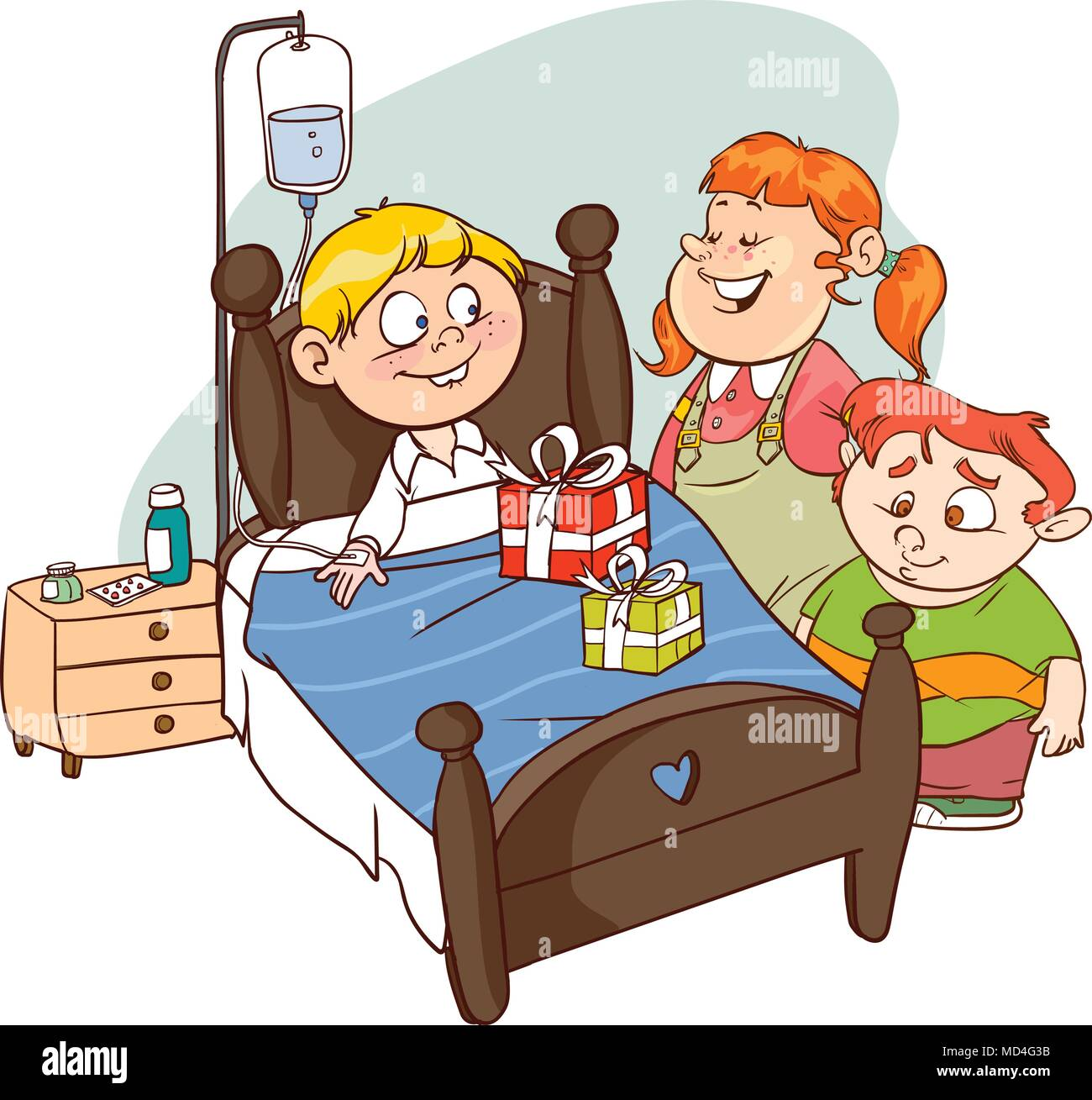 friends visiting sick child vector stock vector art youth ministry clip art free church youth group clip art