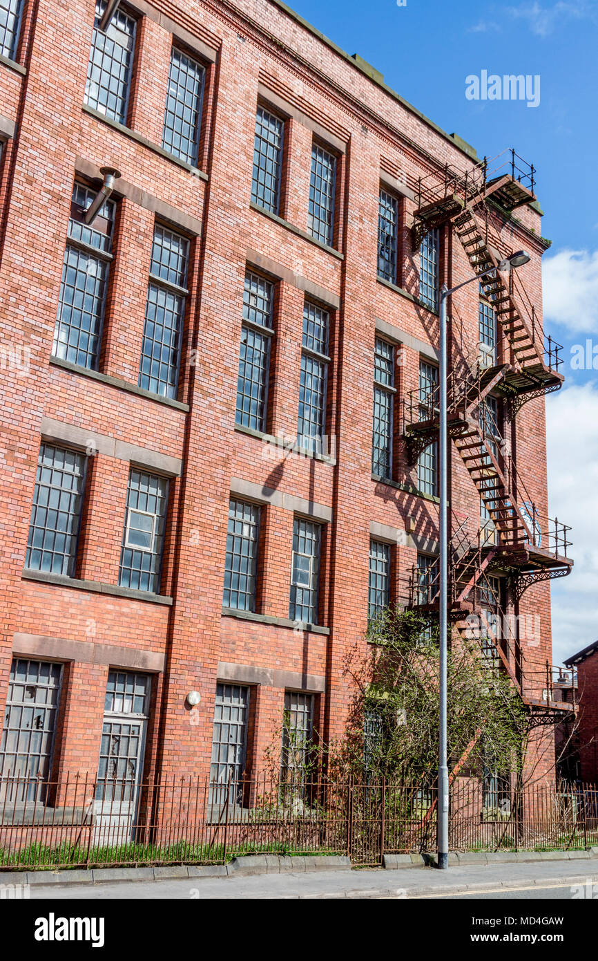 Old mill buildings for sale, Leek town centre shopping