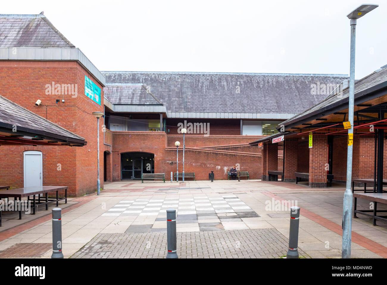 Deserted market in Congleton Cheshire UK - Stock Image