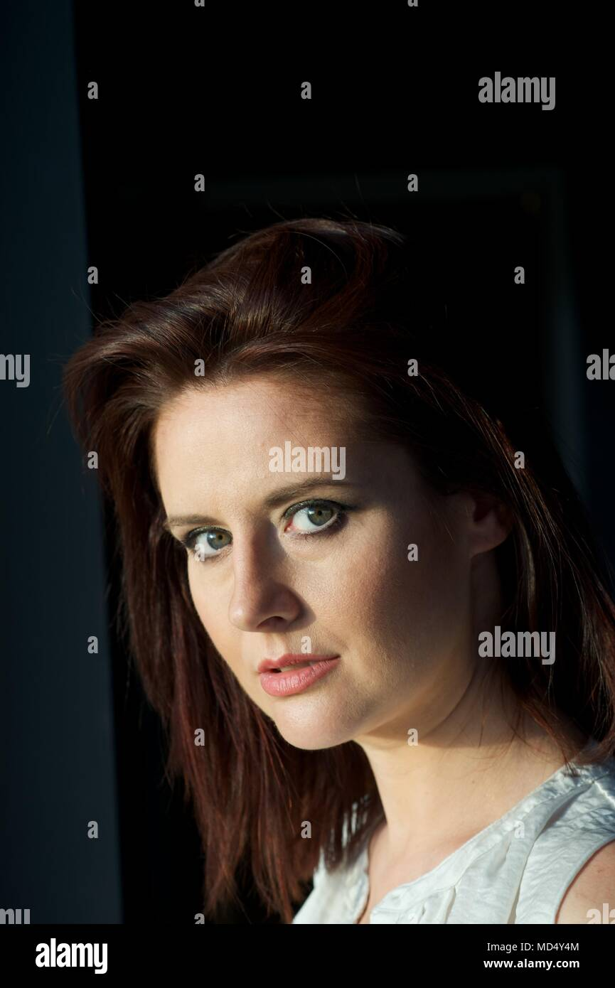 Beautiful brunette portrait - Stock Image