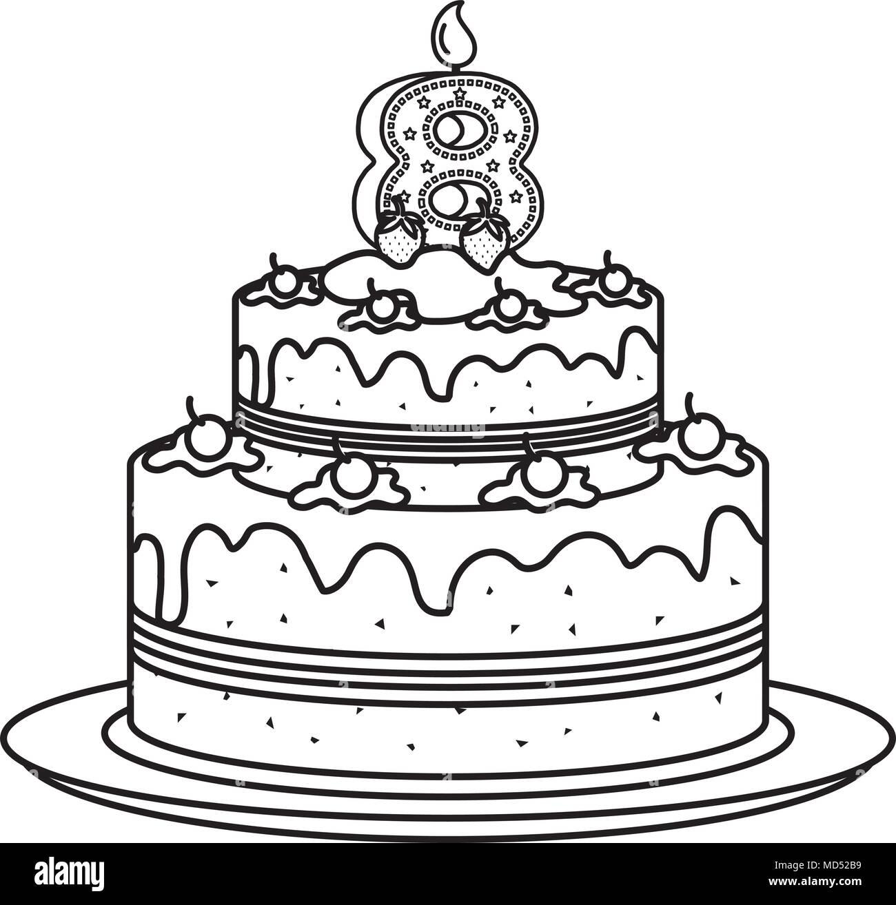 birthday cake candle number year stock photos amp birthday
