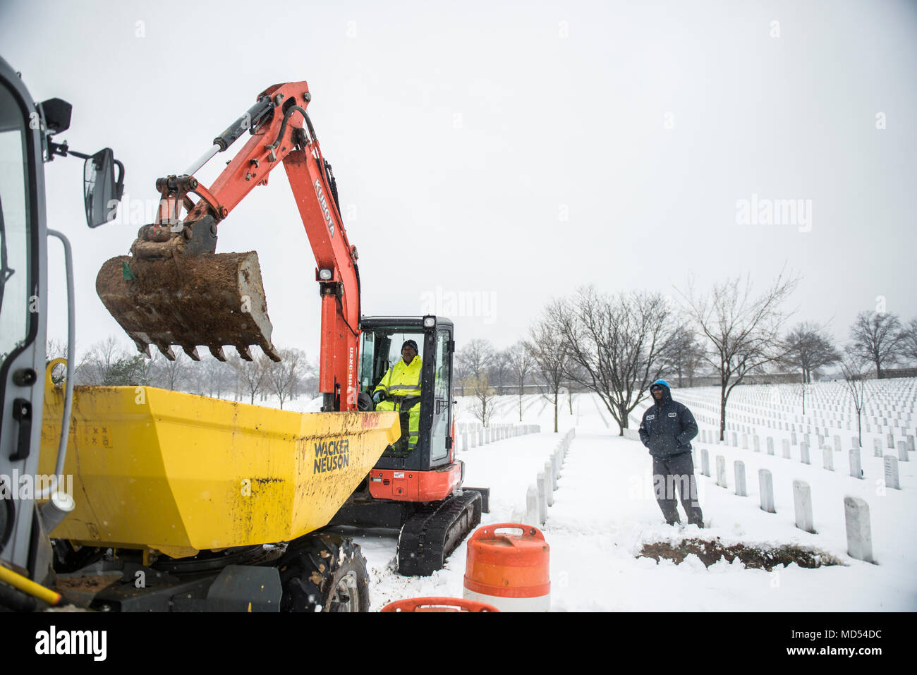 Field Operations teams use excavators and other equipment to
