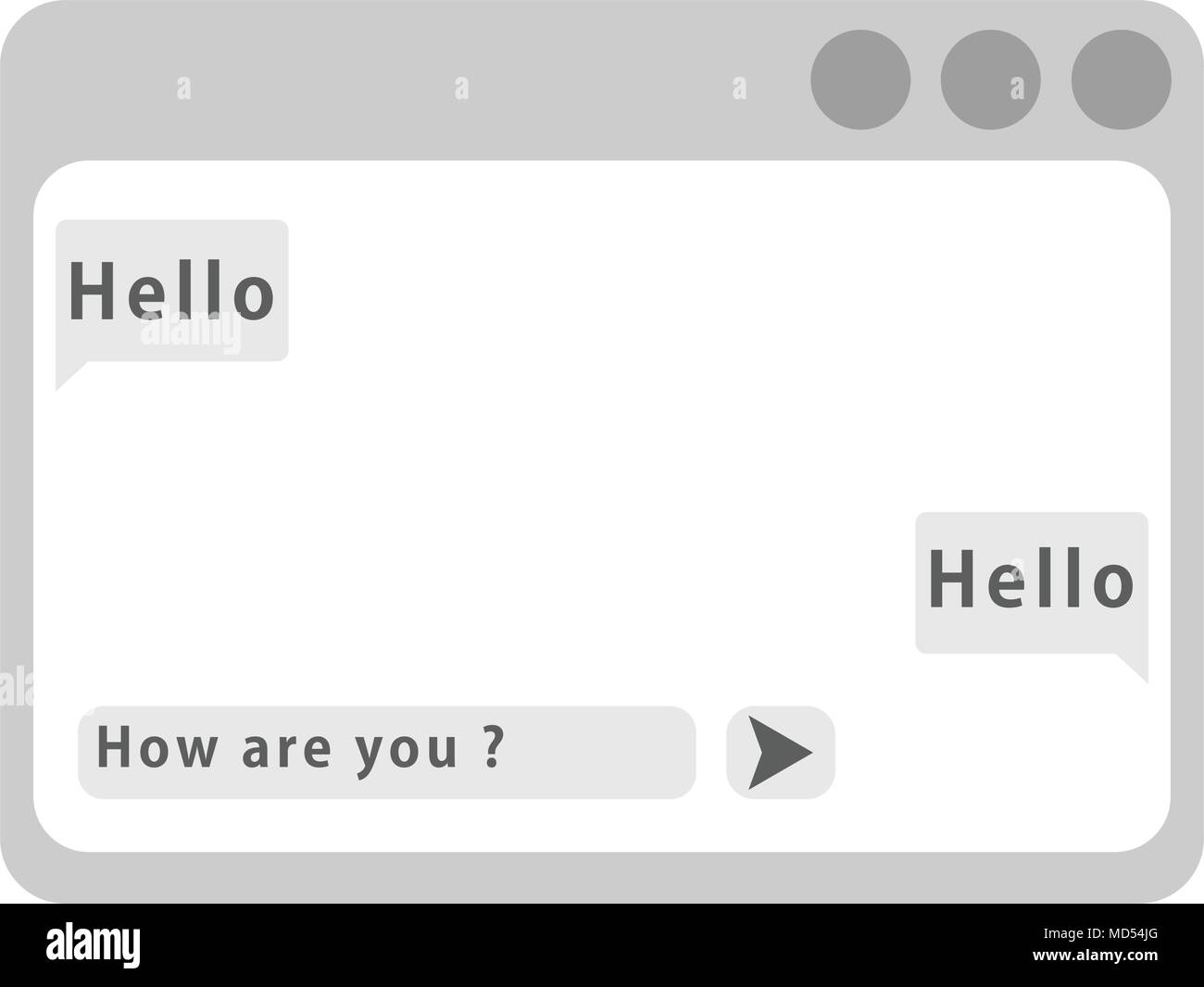 Vector chat framework. message box. flat interface style - Stock Image