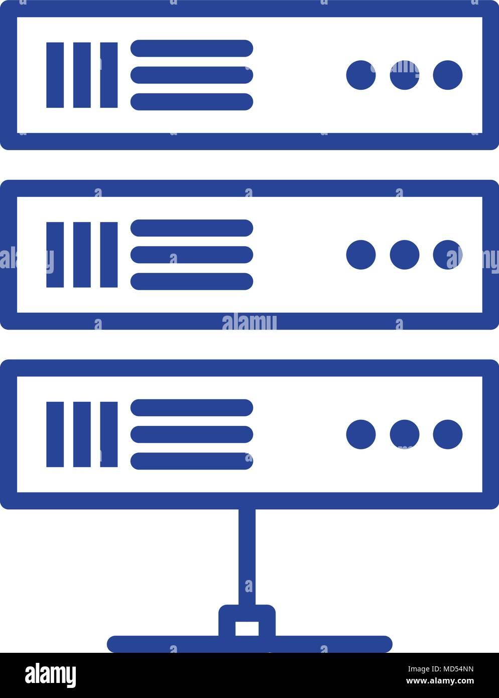 data center server icon Stock Vector Art & Illustration