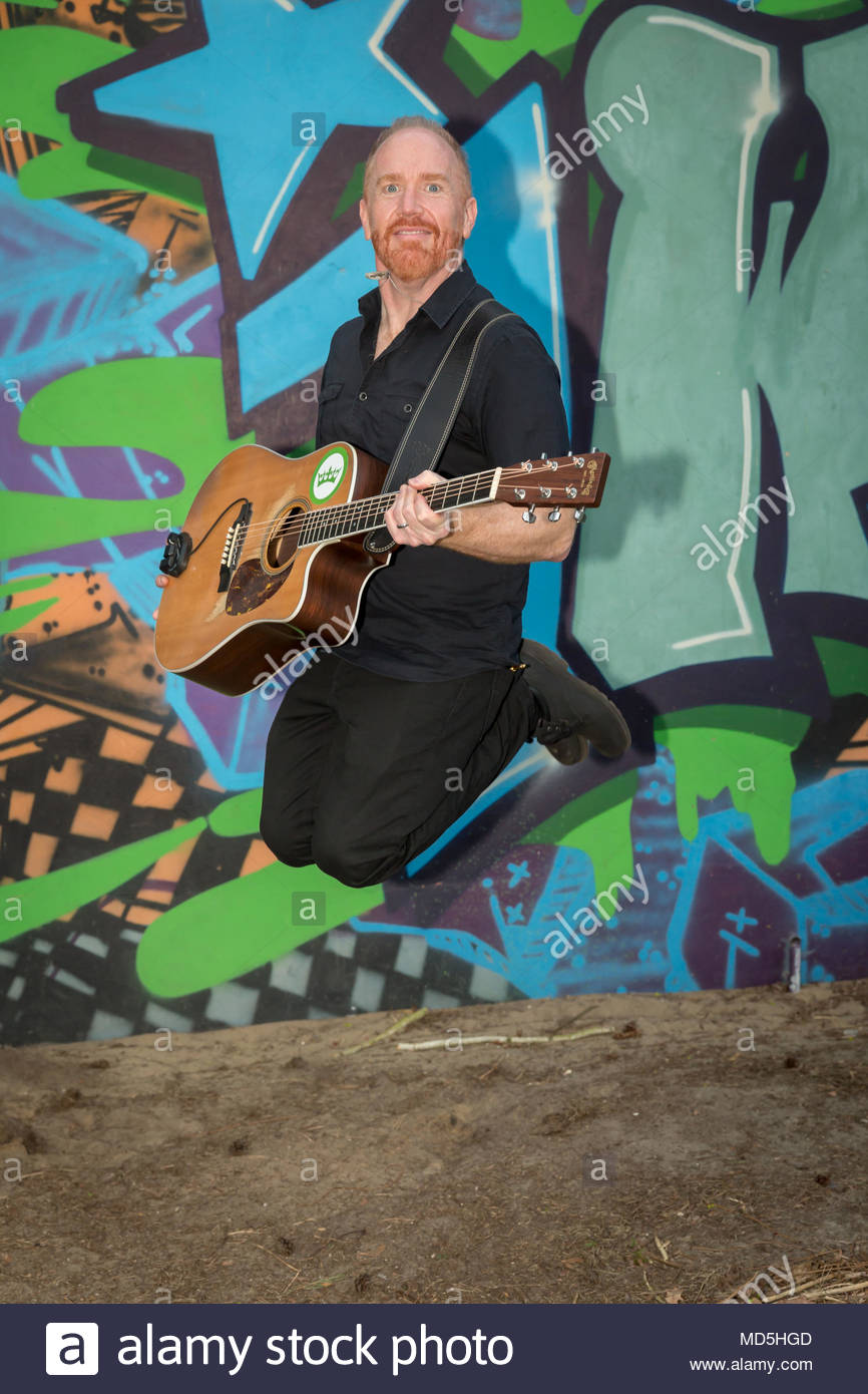 YouTube star Mike Massé on an exclusive photo shooting at the Lindenpark in Potsdam, Germany - Stock Image