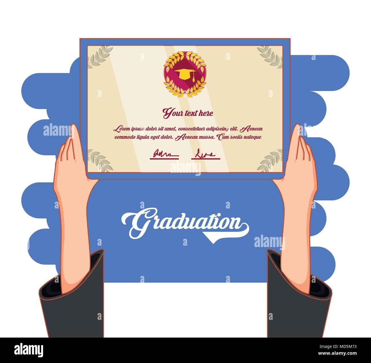 Graduation card invitation icon vector illustration design stock graduation card invitation icon vector illustration design stopboris Choice Image