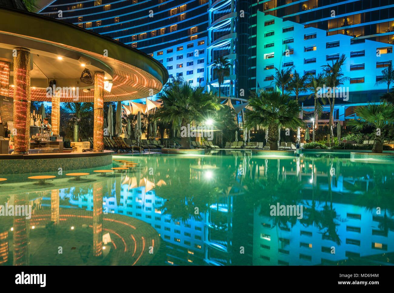 Swimming pool bar stock photos swimming pool bar stock - Jumeirah beach hotel swimming pool ...