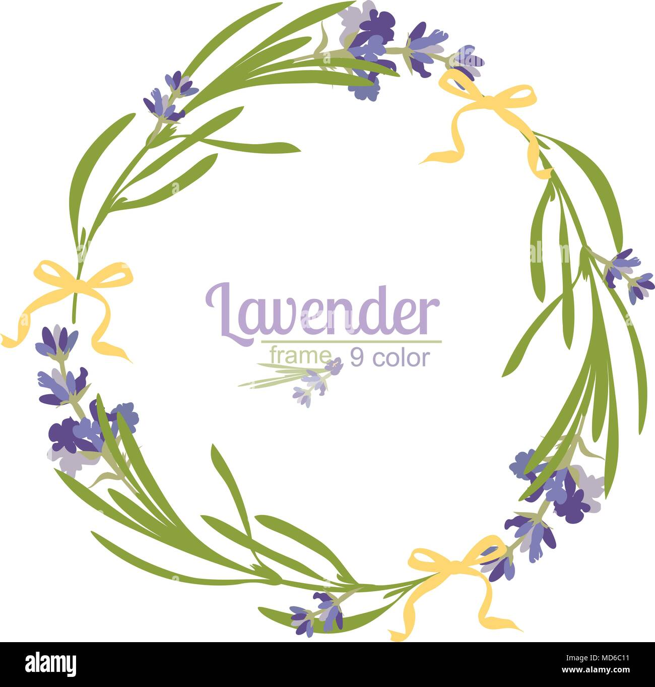 Violet Lavender beautiful floral frames template in watercolor style ...