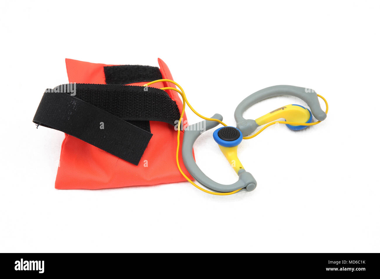 Vivanco Ear Phones And Pouch - Stock Image