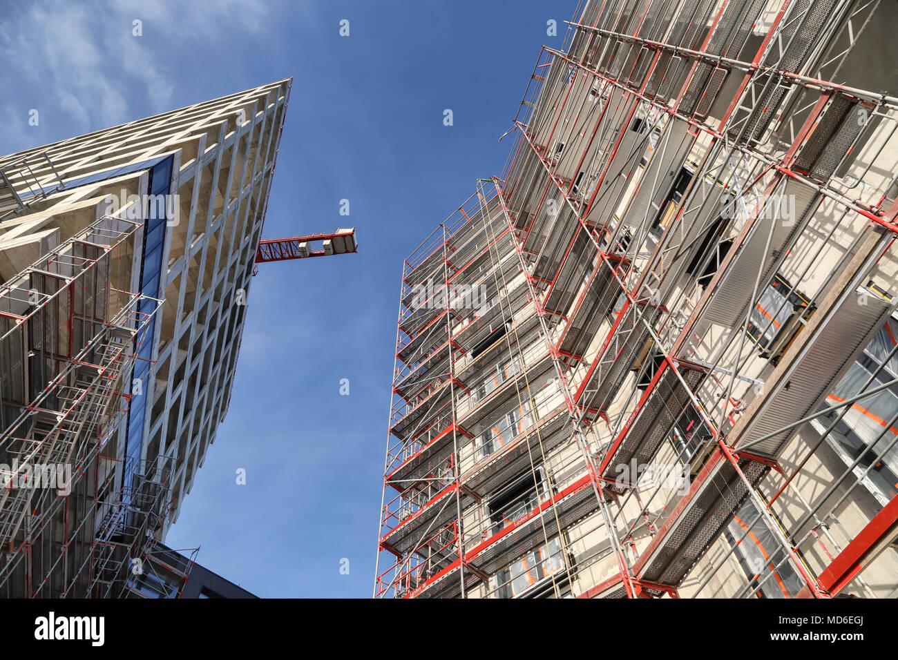 Stahlbeton Skelettbau Stock Photos & Stahlbeton Skelettbau Stock ...