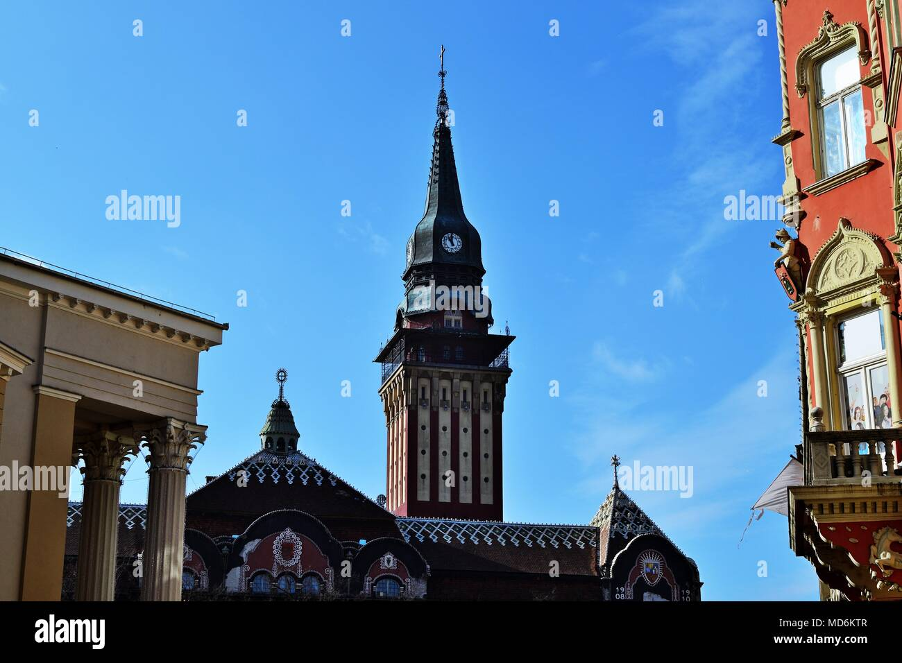 Twon Hall in Subotica, Serbia - Stock Image