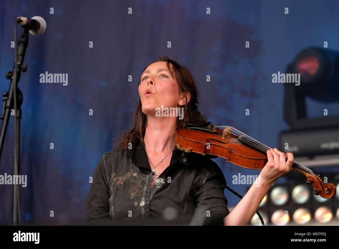 Quill performing at Cropredy Festival 2017 - Stock Image