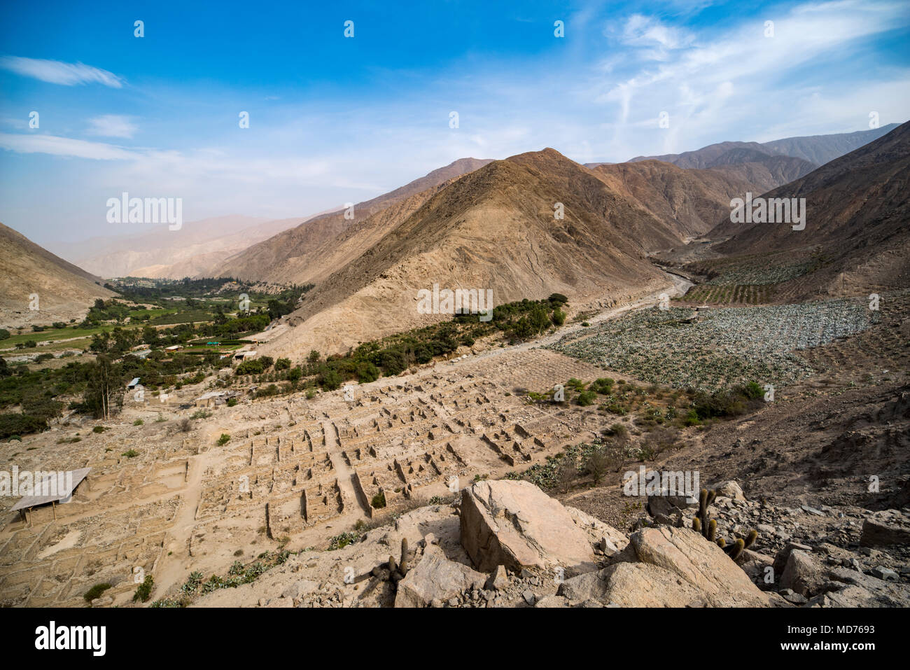 Archaeological Site Of Nieve Nieve Valley Of The Lurin River Lima Peru Stock Photo Alamy