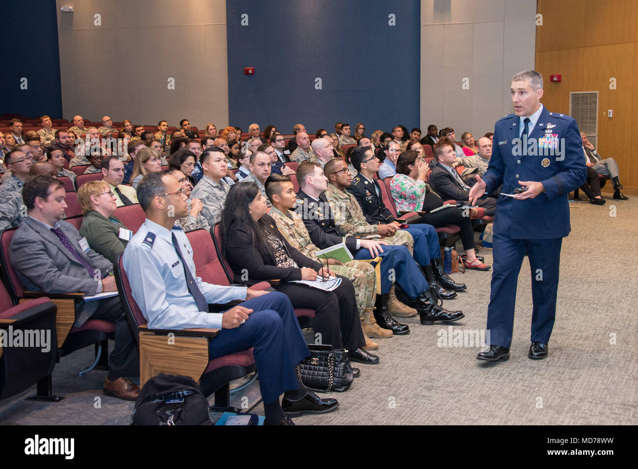 Maxwell AFB, Ala. - Air University holds 3rd annual Language, Regional Expertise, and Culture (LREC) Symposium (U.S. Air Force photo by William Birchfield) - Stock Image