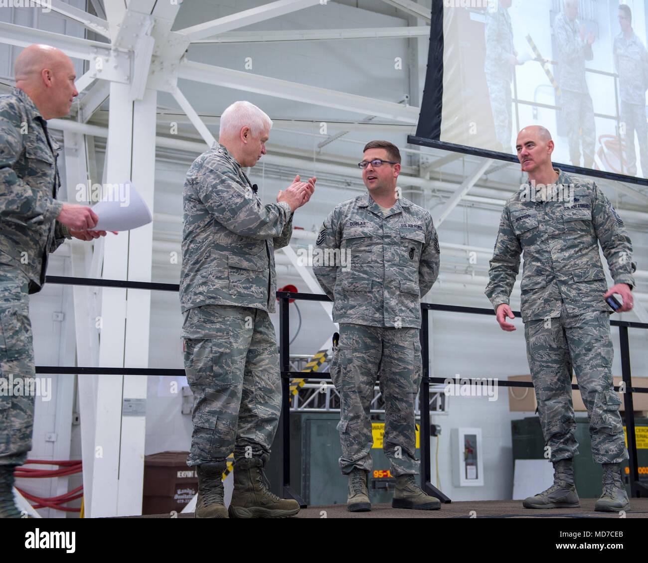 U S  Air Force Master Sgt  Brian Doblar, 133rd Security