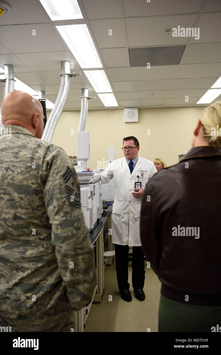Dr. Jeffrey Walterscheid, Armed Forces Medical Examiner System Division Of  Forensic Toxicology Chief Toxicologist, Shows Civic Leaders From MacDill  Air ...