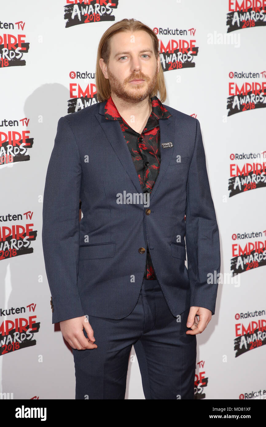 The Empire Film Awards 2018 held at the Roundhouse - Arrivals  Featuring: Christian Brassington Where: London, United Kingdom When: 18 Mar 2018 Credit: Lia Toby/WENN.com - Stock Image