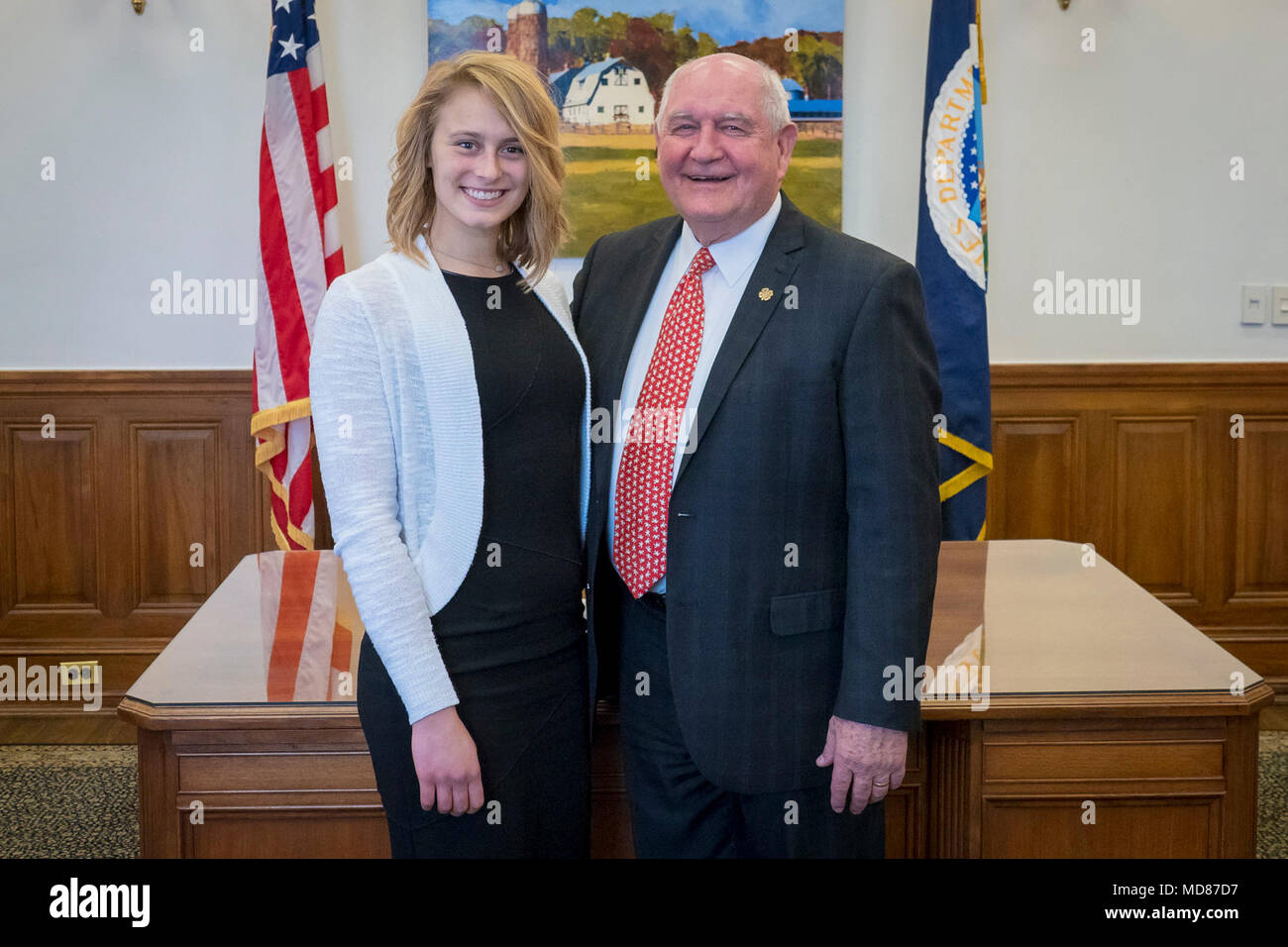 Us Department Of Agriculture Usda Secretary Sonny Perdue Meets