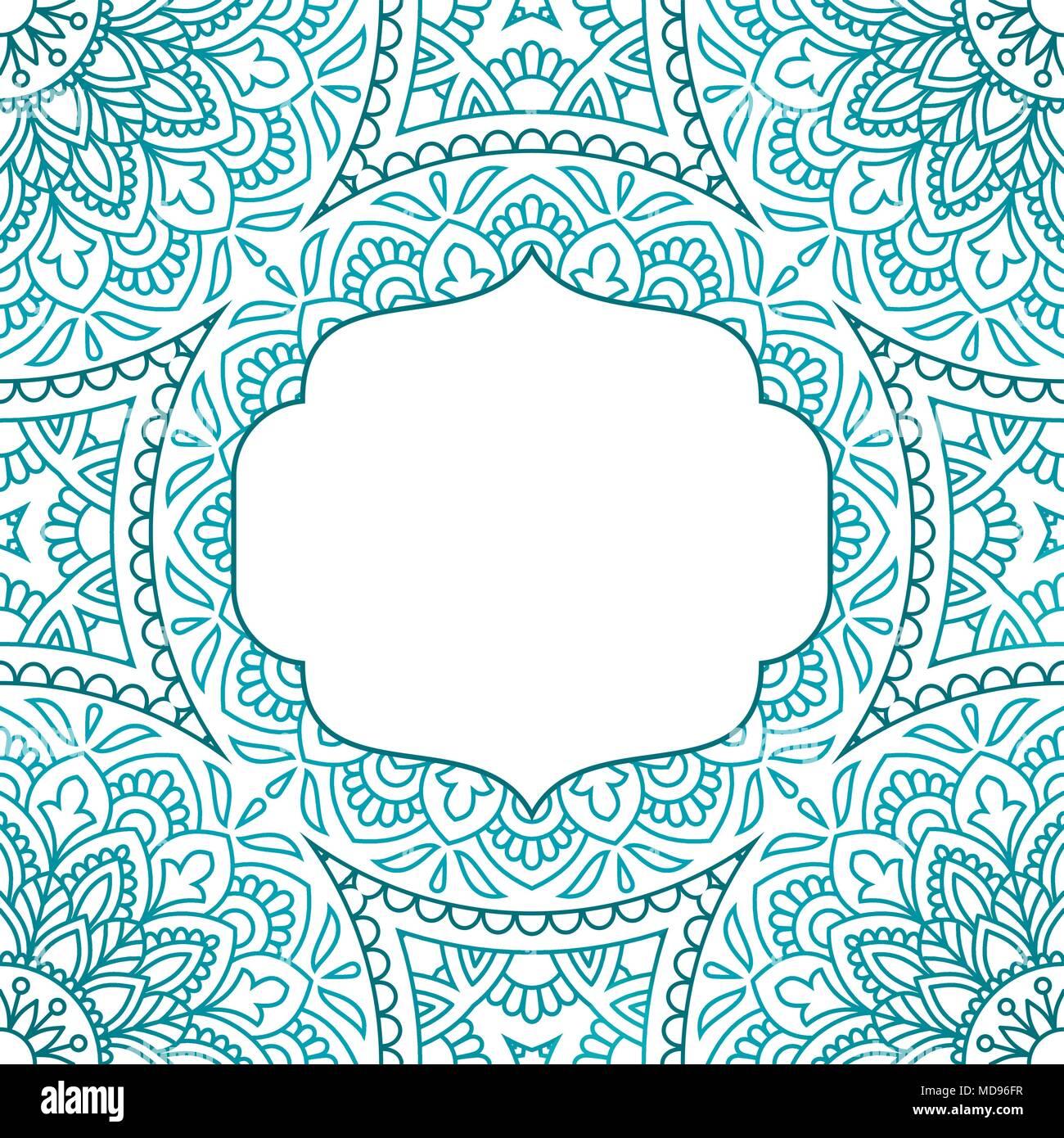 Invitation card with mandala. Vintage decorative elements Stock ...