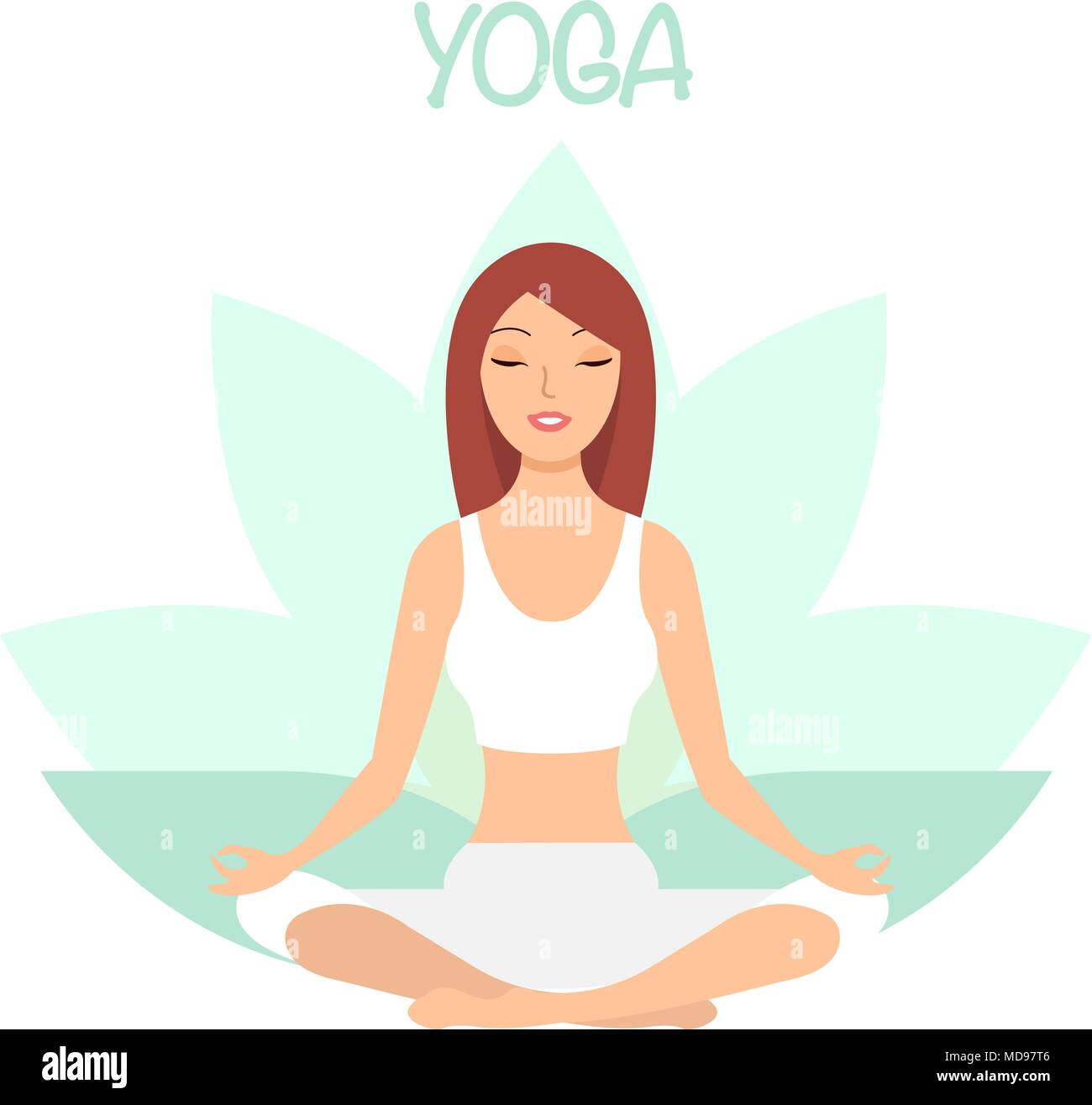 Yoga Cartoon High Resolution Stock Photography And Images Alamy