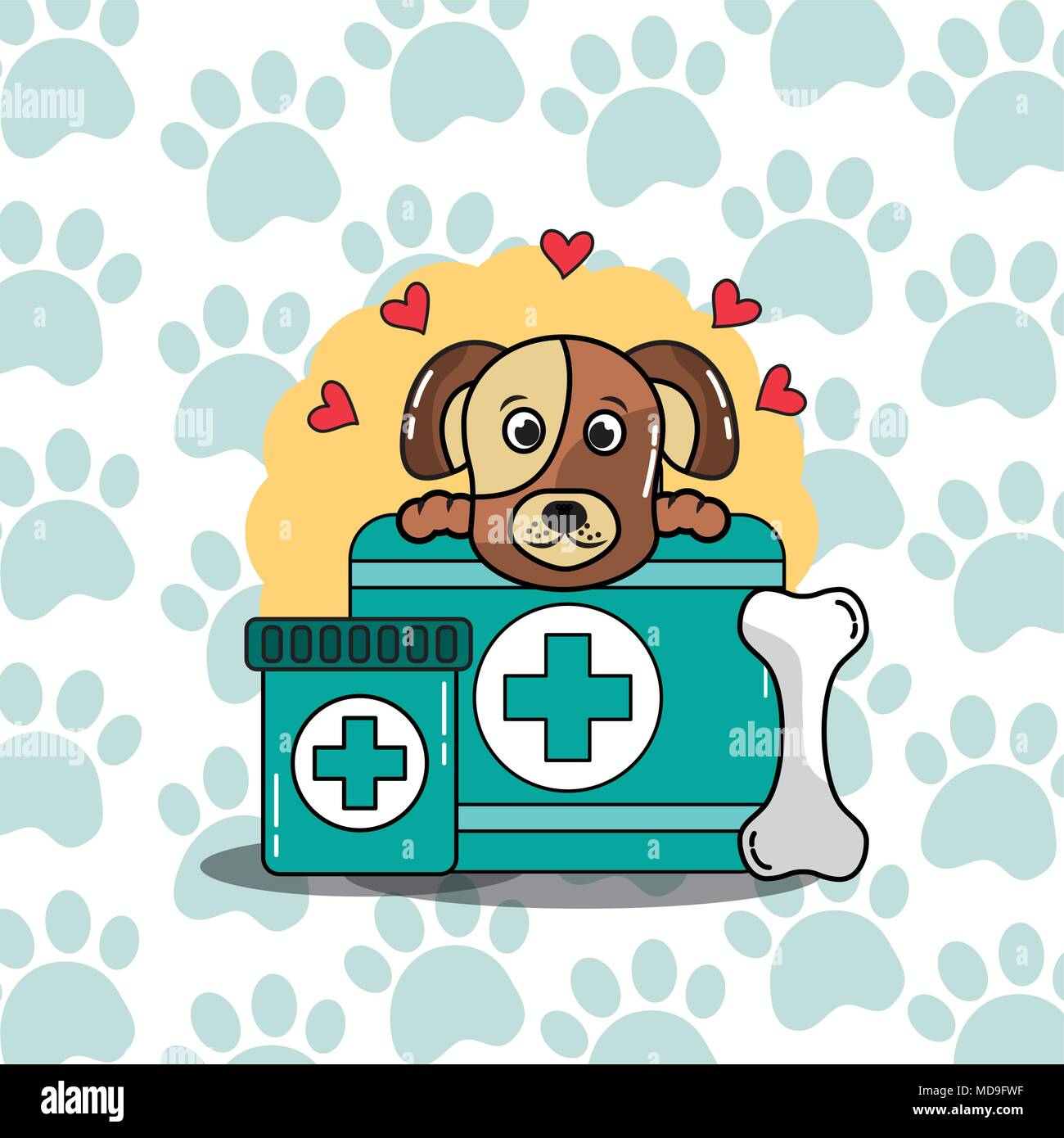 pet cat and dog Stock Vector
