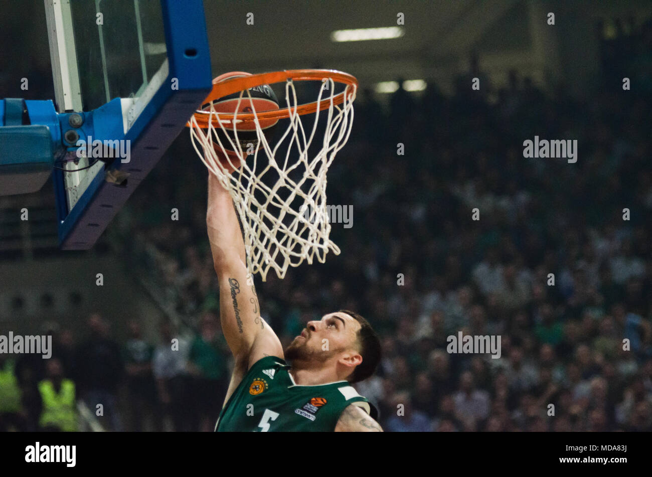 7062d49c761 ... Panathinaikos Superfoods Athens in action during the Turkish Airlines  Euroleague Play Offs Game 1 between Panathinaikos Superfoods Athens v Real  Madrid ...
