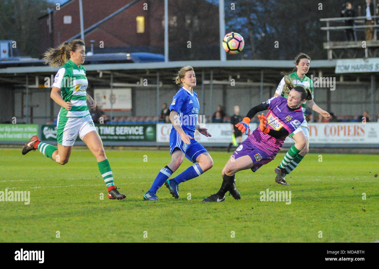 636413eea8c Yeovil goalkeeper Megan Walsh makes another save to deny Ellen White of  Birmingham to earn her team their first point of the season in the match ...