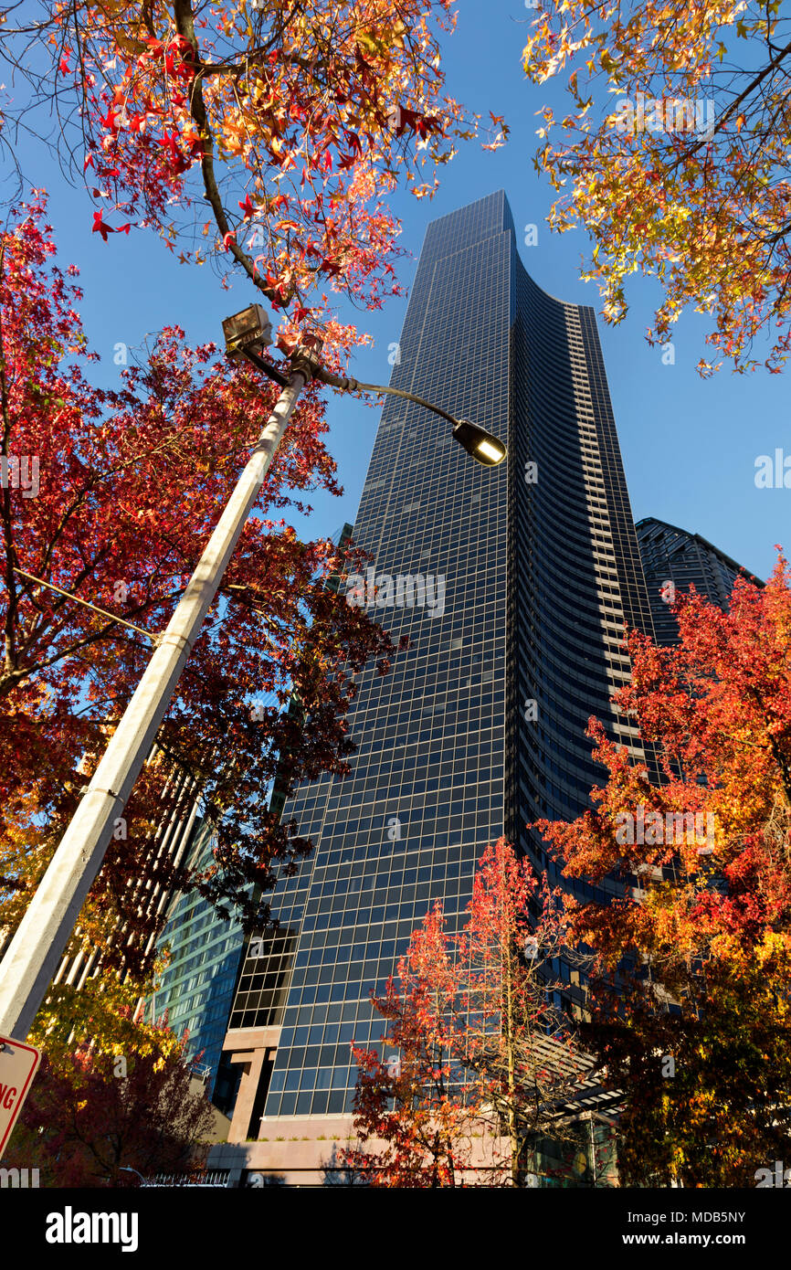 WA15287-00...WASHINGTON - Columbia Center, at 76 floors high, is the tallest building Seattle. - Stock Image