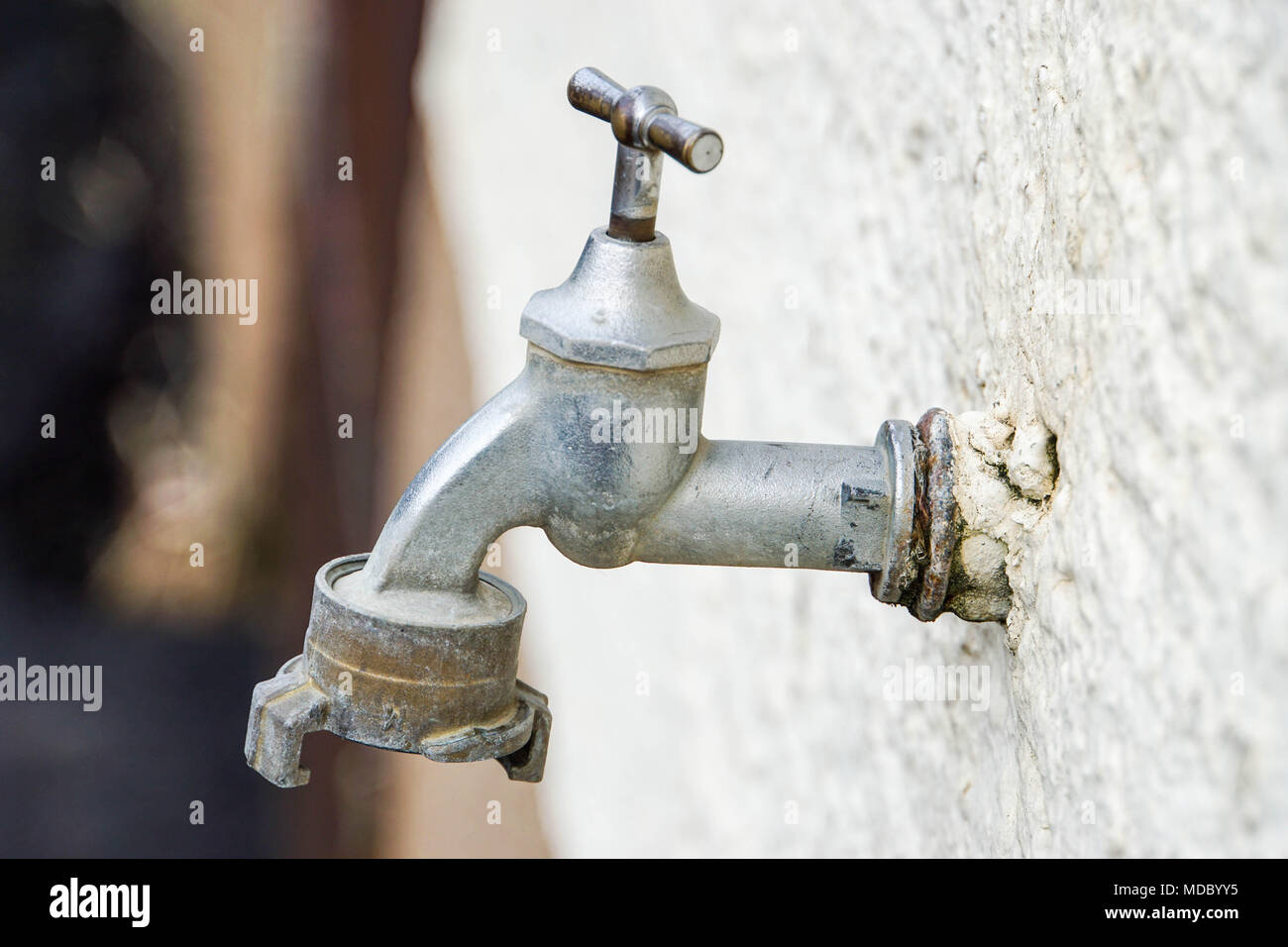 Vintage Outdoor Water Faucet Stock Photos & Vintage Outdoor Water ...