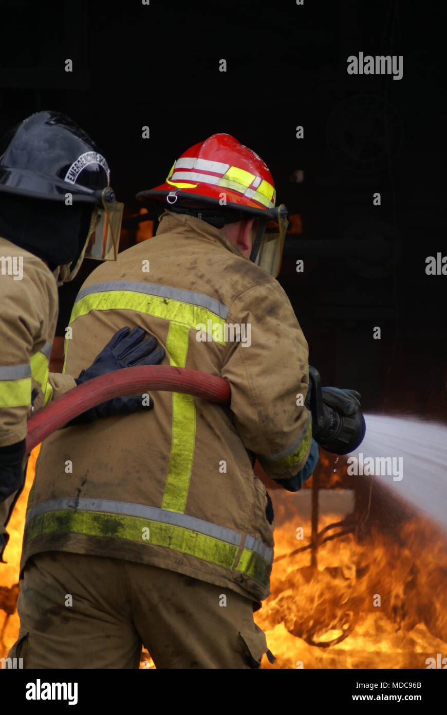 chemical explosion, disaster zone - Stock Image