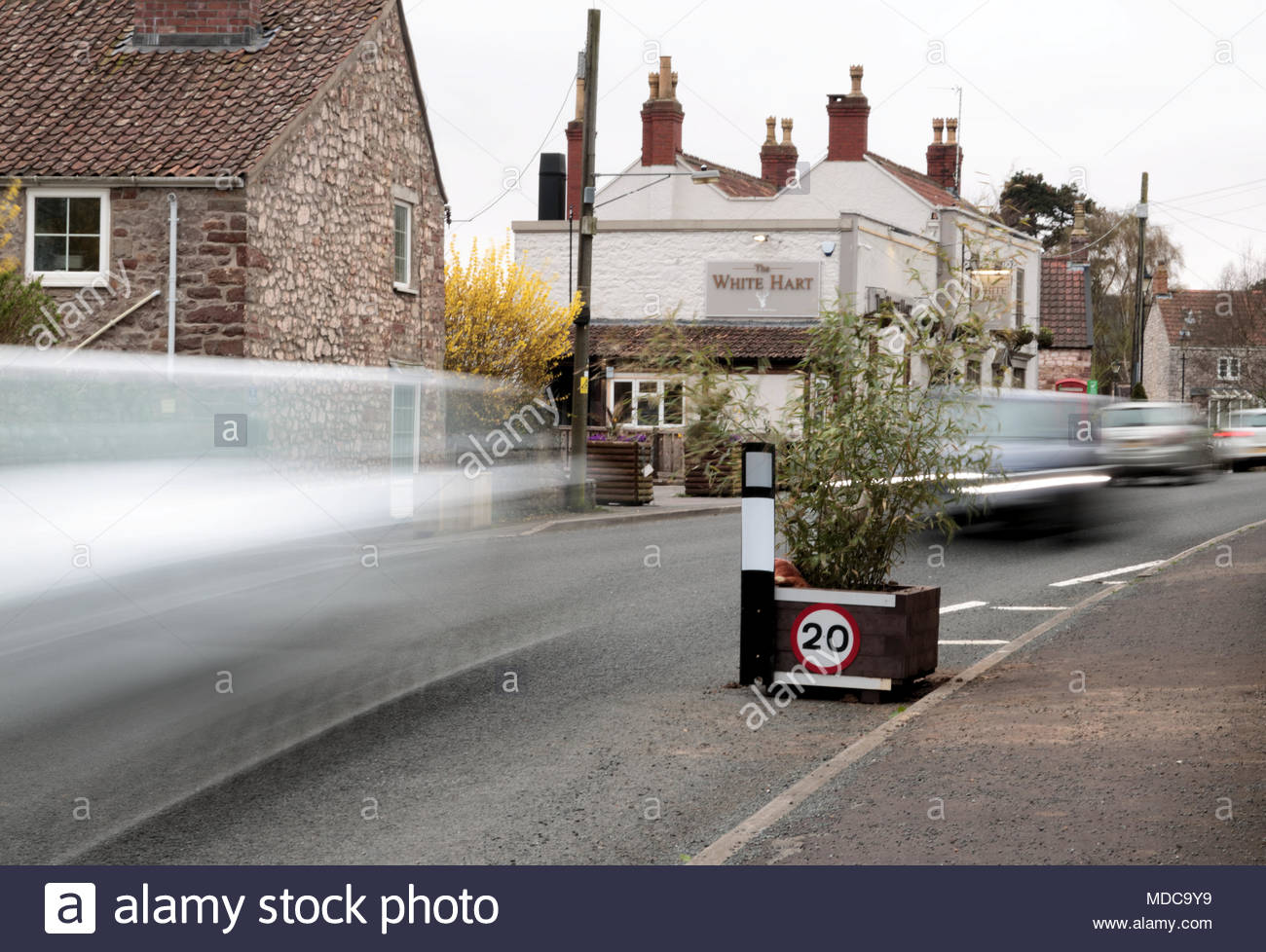 Traffic Calming measures introduced in Weston in Gordano - Stock Image