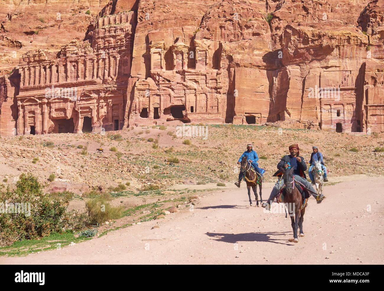 Petra ancient town, Jordan - Stock Image