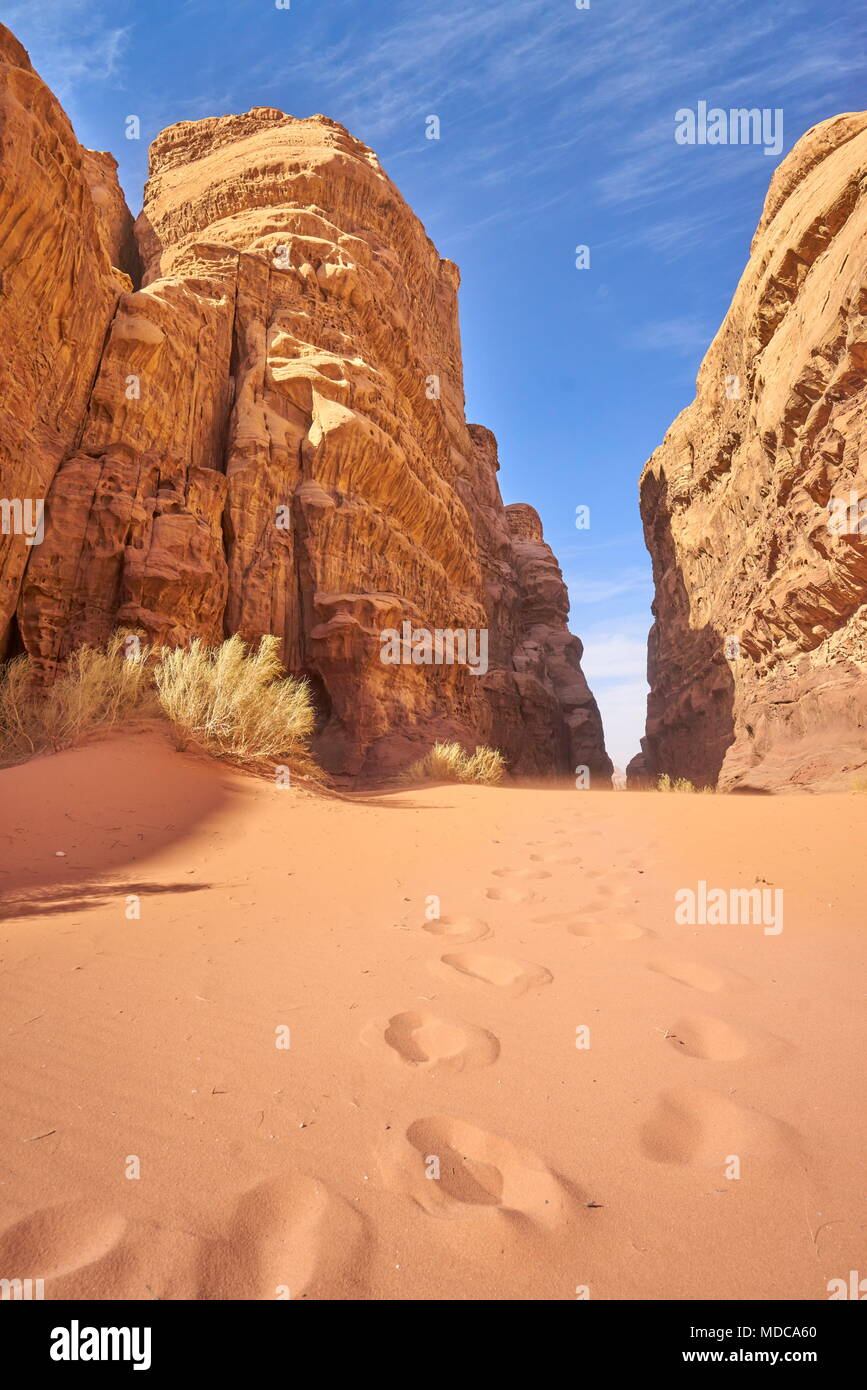 Wadi Rum Desert, Jordan - Stock Image