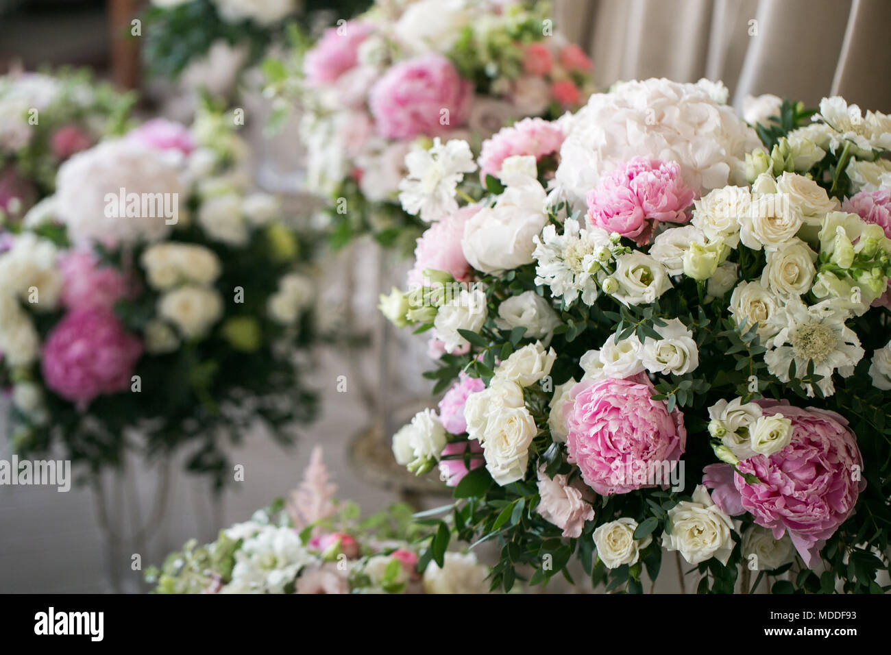 Peonies Balcony Decoration High Resolution Stock Photography And Images Alamy