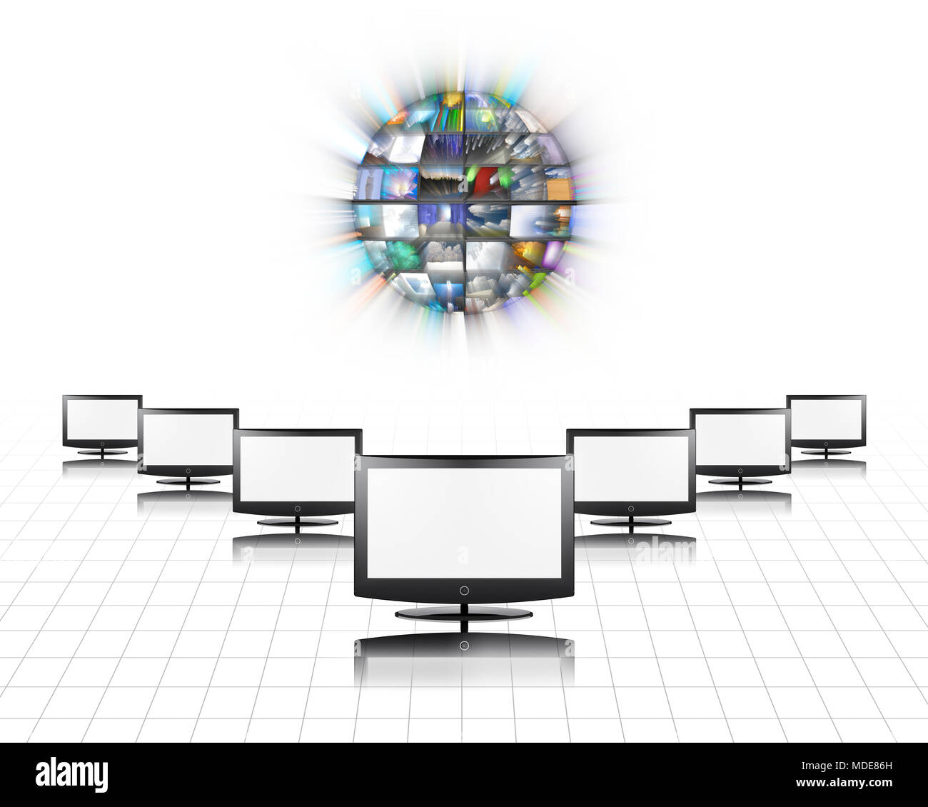 Flat panels screens - Stock Image