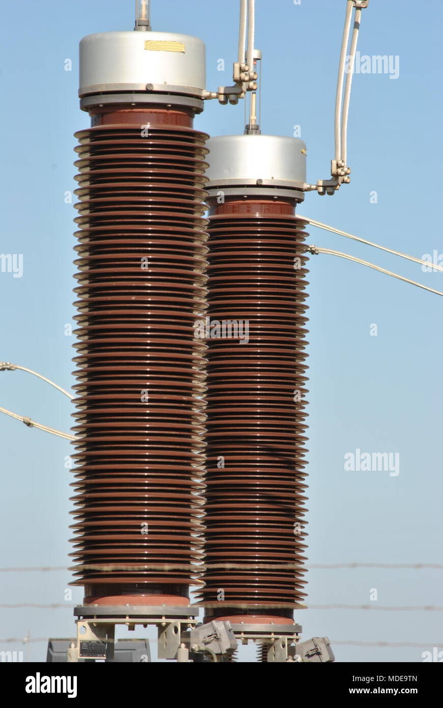 Electric high voltage plant - Stock Image