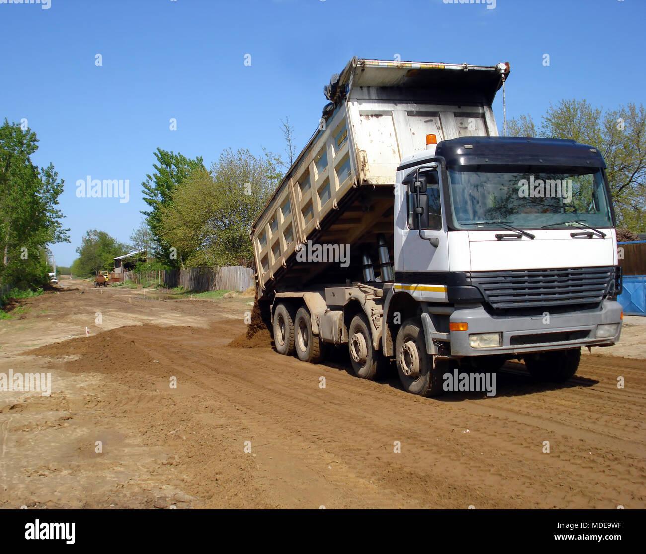 Truck dumper - Stock Image