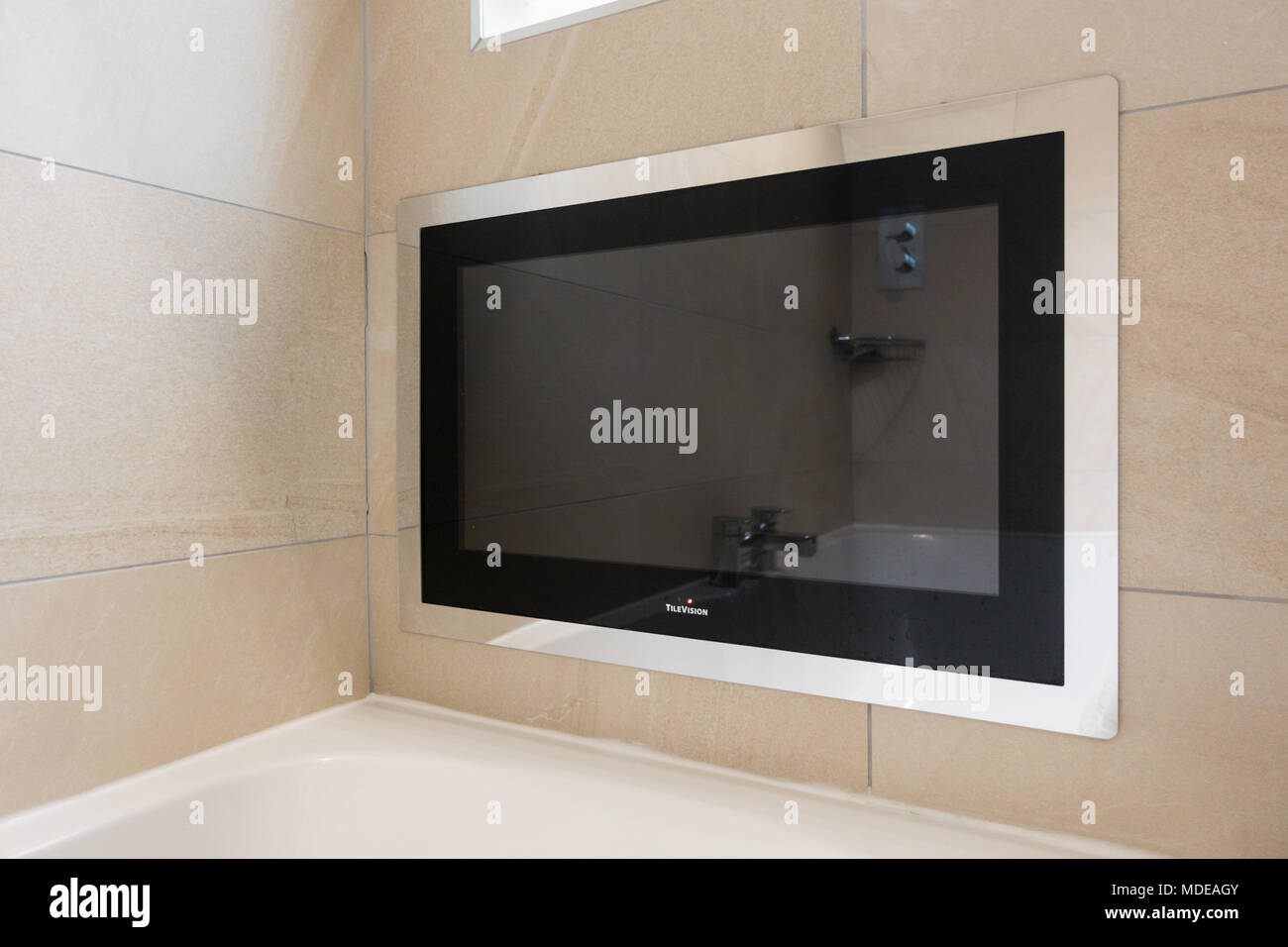 waterproof digital LCD television made by TileVision - Stock Image